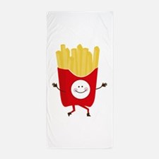 Happy Fries Beach Towel