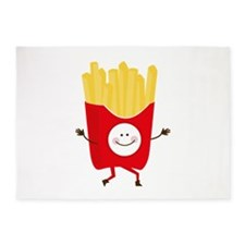 Happy Fries 5'x7'Area Rug