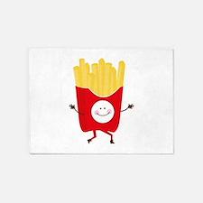 Happy Fries 5'x7'Area Rug