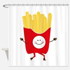 Happy Fries Shower Curtain