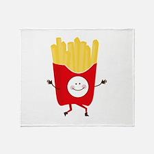 Happy Fries Throw Blanket