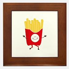 Happy Fries Framed Tile