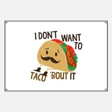 Funny Taco Banner
