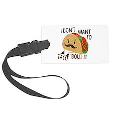 Funny Taco Luggage Tag