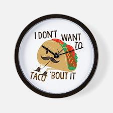 Funny Taco Wall Clock