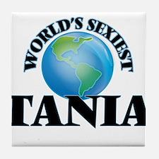 World's Sexiest Tania Tile Coaster