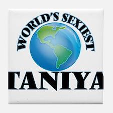 World's Sexiest Taniya Tile Coaster