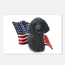 Poodle (Blk) Flag Postcards (Package of 8)