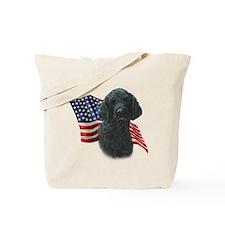 Poodle (Blk) Flag Tote Bag