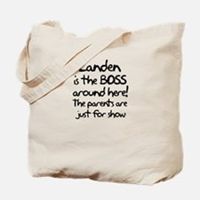 Landen is the Boss Tote Bag