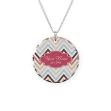 Chevron Pattern with Custom Necklace