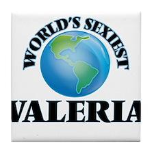 World's Sexiest Valeria Tile Coaster