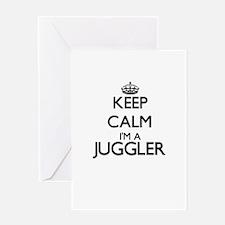 Keep calm I'm a Juggler Greeting Cards