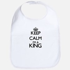 Keep calm I'm a King Bib