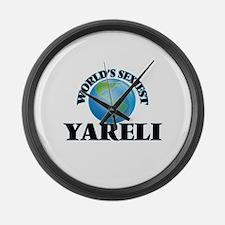 World's Sexiest Yareli Large Wall Clock