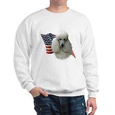 Poodle (Wht) Flag Sweatshirt
