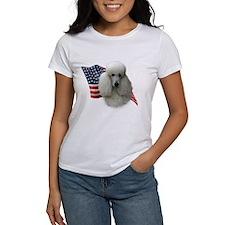 Poodle (Wht) Flag Tee