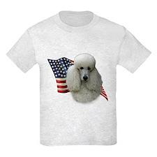 Poodle (Wht) Flag T-Shirt