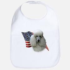 Poodle (Wht) Flag Bib