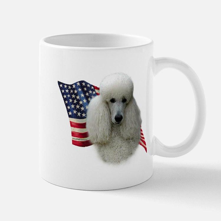 Poodle (Wht) Flag Mug