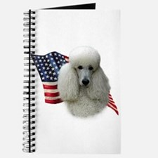 Poodle (Wht) Flag Journal