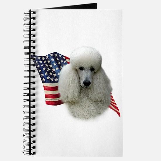 Poodle (Wht) Flag Journal