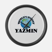 World's Sexiest Yazmin Large Wall Clock