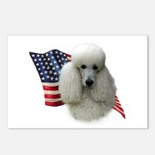 Poodle (Wht) Flag Postcards (Package of 8)
