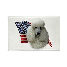 Poodle (Wht) Flag Rectangle Magnet