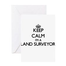 Keep calm I'm a Land Surveyor Greeting Cards