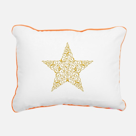 Beautiful Gold Star Rectangular Canvas Pillow