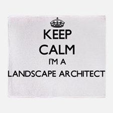 Keep calm I'm a Landscape Architect Throw Blanket