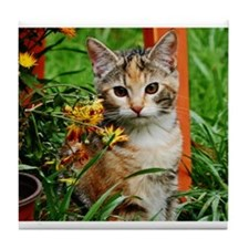 LILY Garden Cat Tile Coaster