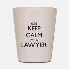 Keep calm I'm a Lawyer Shot Glass