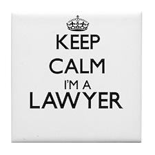 Keep calm I'm a Lawyer Tile Coaster