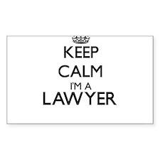 Keep calm I'm a Lawyer Decal