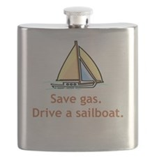 Save Gas. Drive A Sailboat! Flask