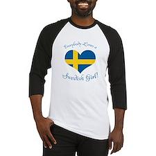Cute Swedish american Baseball Jersey