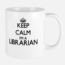 Keep calm I'm a Librarian Mugs