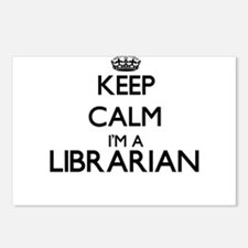 Keep calm I'm a Librarian Postcards (Package of 8)