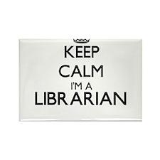 Keep calm I'm a Librarian Magnets