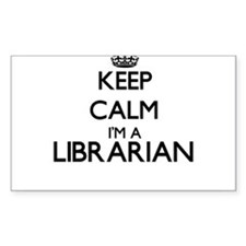 Keep calm I'm a Librarian Decal