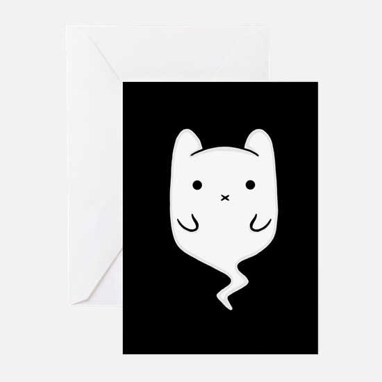 Boo the Ghost Cat Greeting Cards (Pk of 10)