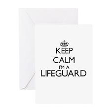 Keep calm I'm a Lifeguard Greeting Cards