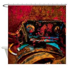 Peeling Paint And Broken Tail Light Shower Curtain