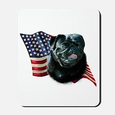 Pug (Blk) Flag Mousepad
