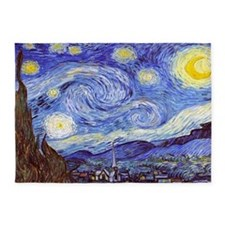 'The Starry Night' Van Gogh 5'x7'Area Rug