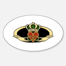Poly Claddagh Medallion Sticker (oval)