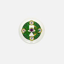 Poly Claddagh Brooch Mini Button