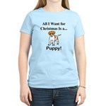 Christmas Puppy Women's Light T-Shirt